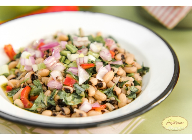 Black peas salad