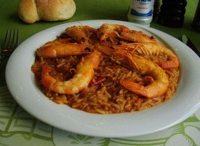 Shrimps rizotto.