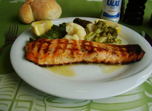 Salmon fillet.