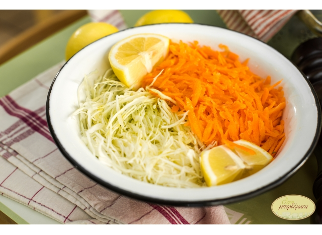 Cabbage and carrot salad